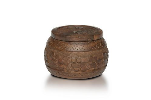 "PFPC Rosewood ""Paw Pot"" Urn with Hand-Carved Paw Prints – RW-WA0027"
