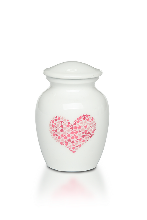 "PFPC ""Pink Heart"" Design Urn – Bogati Exclusive – A-4000-XS-PINK HEART"