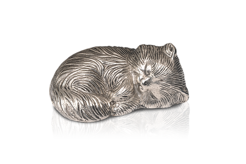 Sleeping Kitty Urn – Nickel – Exclusive Item – A-1468-S