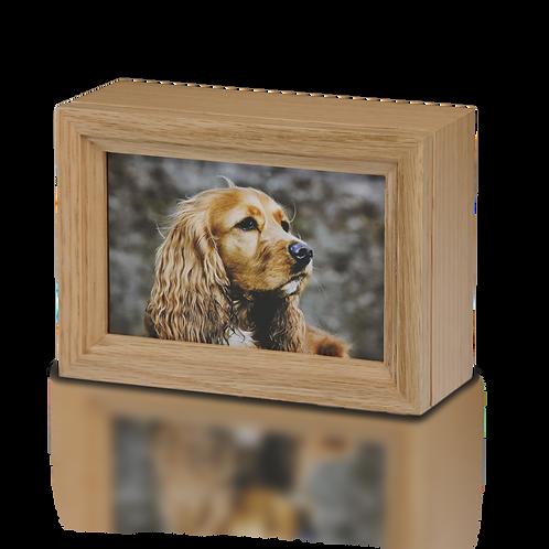 PPVH Photo Frame Pet Cremation Urn in Oak Wood – B014-Oak – 45 cu. in.