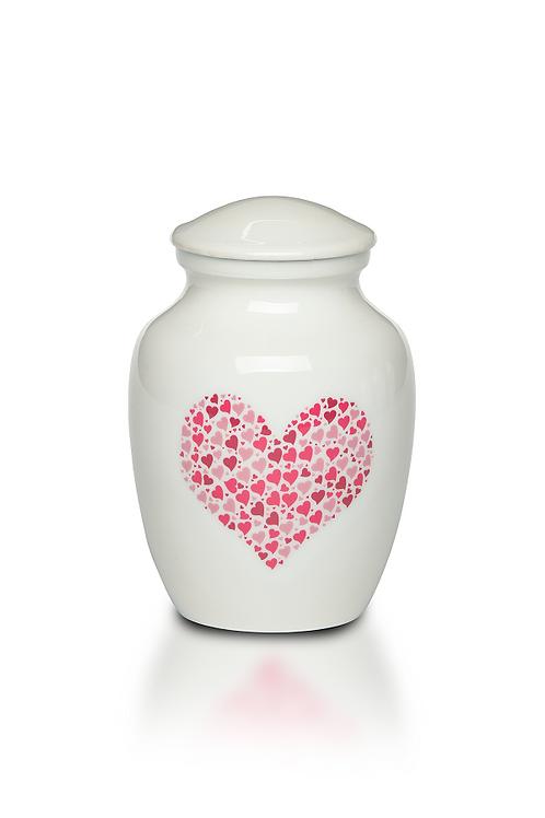 "PFPC ""Pink Heart"" Design Urn – Bogati Exclusive – A-4000-S-PINK HEART"