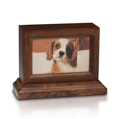 4″ x 6″ Wooden Photo Frame Pet Urn with Base in Rosewood – #2730 – 45 cu. in.