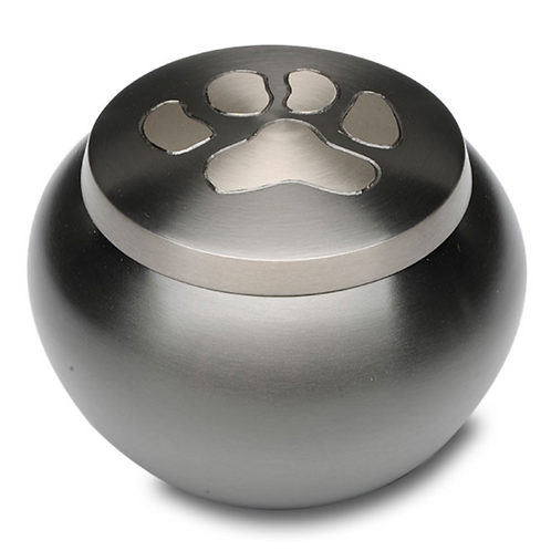 Single Paw Print Pet Cremation Urn – Small – B-1536S-S