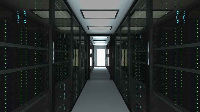 Canva - Modern server room interior in d