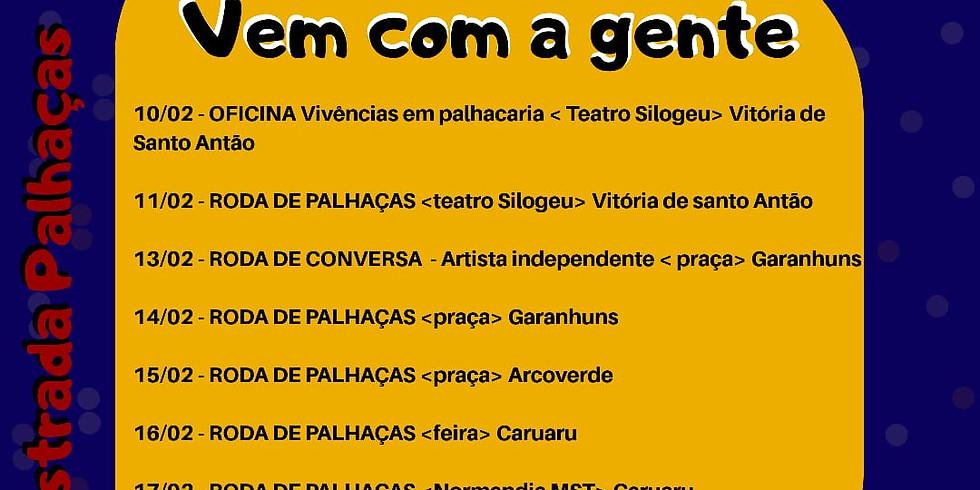 PE na estrada Palhaças - 3 palhaças em Pernambuco