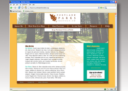 Portland Parks - Website Rebrand