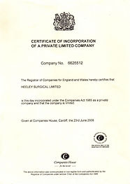 Heeley Surgical Ltd Incorporation Certificate