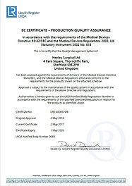Heeley Surgical Ltd EC Certificate