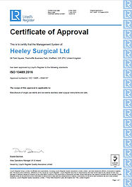 Heeley Surgical Ltd ISO 13485 2016 Certi