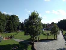 Widok na ogród z Golgoty