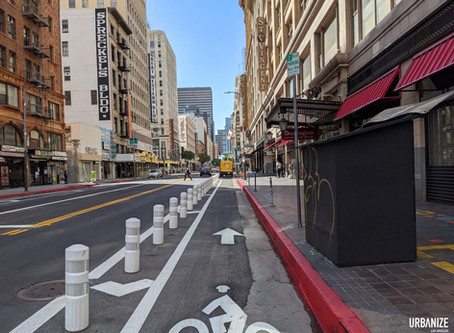 My Experience Cycling along 7th St in DTLA