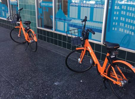 Spin Dockless Bikeshare in Koreatown
