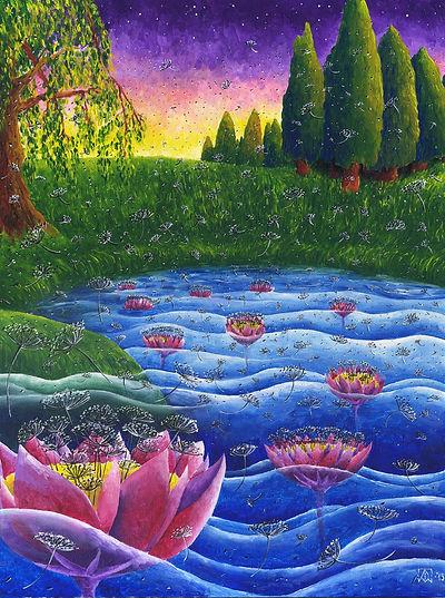 Цветение в каналах Эливагар. Метан