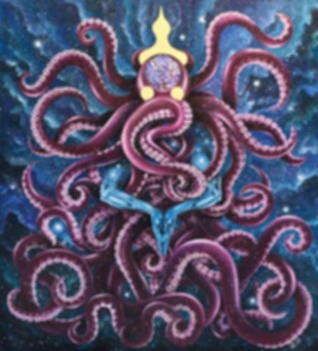 Бог-Осьминог со склеенным руками