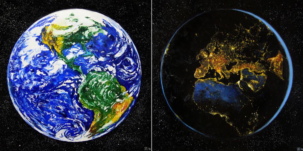 Покидая Землю (диптих)