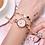 Thumbnail: Golden Stainless Steel Women Fashion Bracelet Watch
