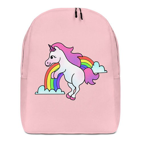 Unicorn Over The Rainbow Minimalist Backpack
