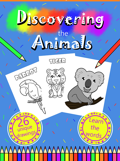 Coloring book printable - Discovering the Animals