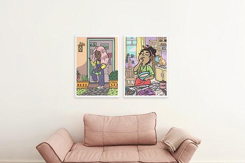Set of 2 wall decor printables