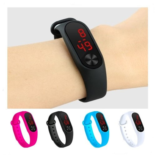 Four Colors Children's Digital Watch Led Sport Watch