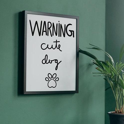 Dog lover wall decor printable