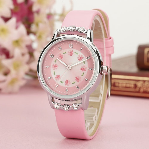 Children Watch Cute Princess Waterproof Leather