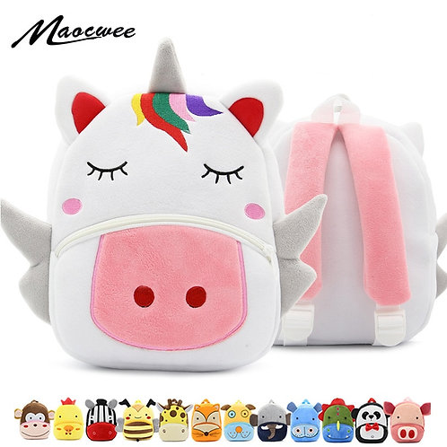 Cute Unicorn Baby Backpack Plush School Bag Rucksack
