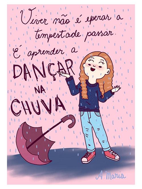 "Print digital "" Dançar na chuva """