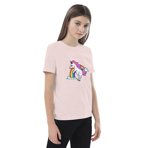 Unicorn Over The Rainbow Organic cotton kids t-shirt