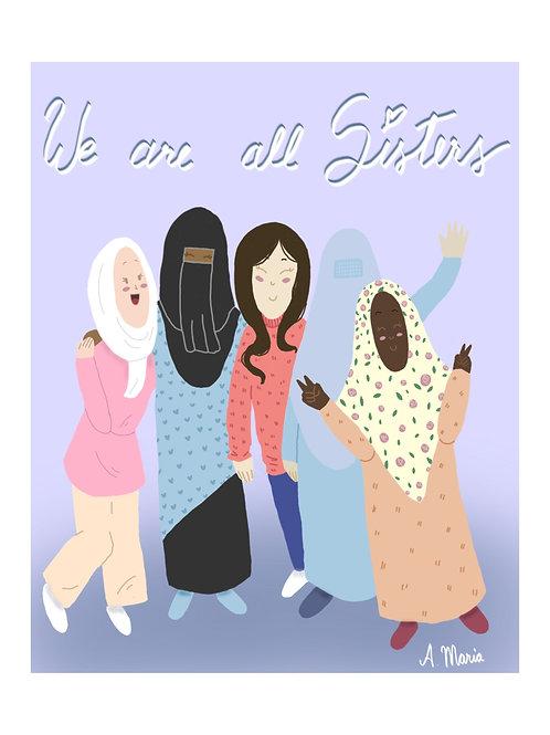 "Print digital "" We are all sisters """