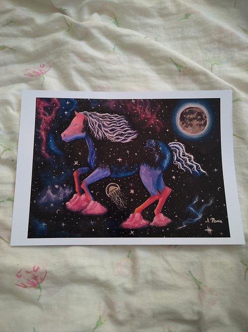 "Print a4 ""Correndo pela galáxia"""