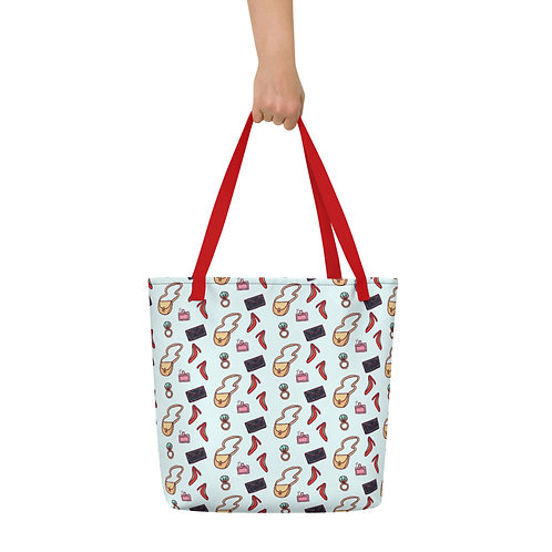 Fashion design print Beach Bag