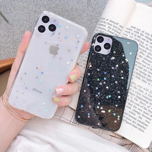 Glitter Clear Phone Case for iPhone