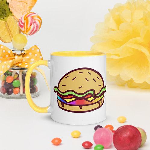 Rainbow Burger Mug with Color Inside