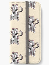 cute cat design on an iphone wallet
