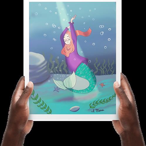 Mermaid hijabi