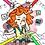 Thumbnail: Coloring page girl waking up printable