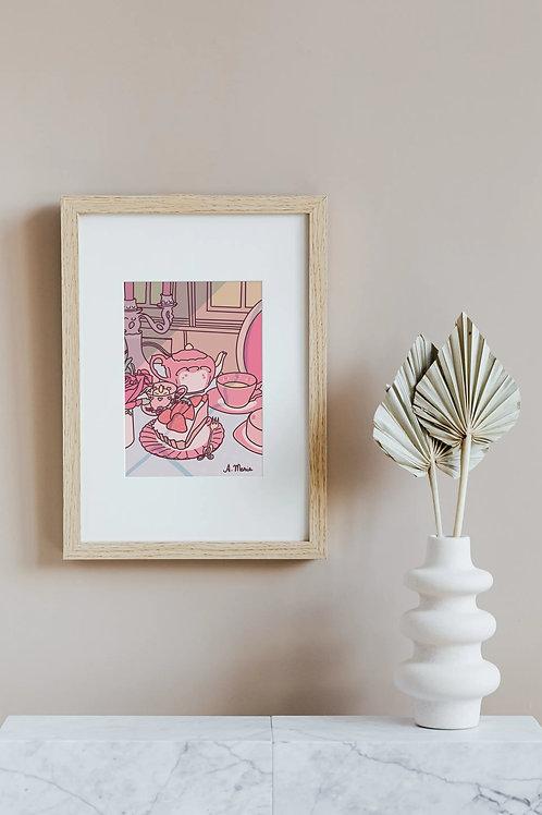 Kawaii aesthetic pink wall decor