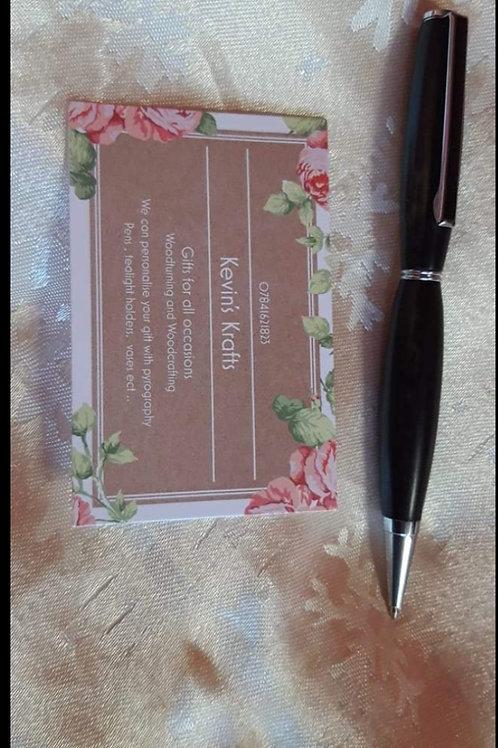 Ebony pen with box