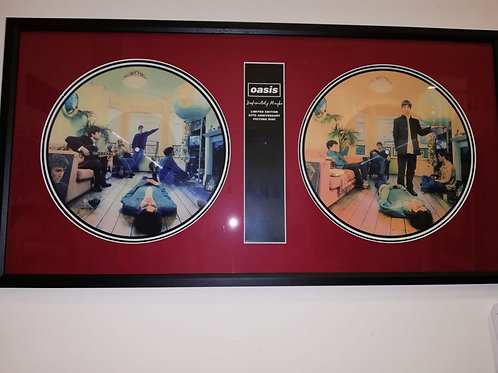 Large Oasis 25th anniversary album Framed