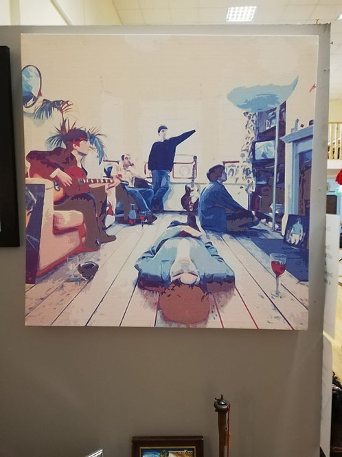 Large Oasis canvas