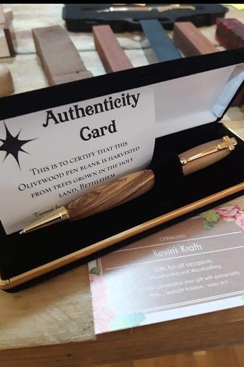 Holyland Pen with cross clip