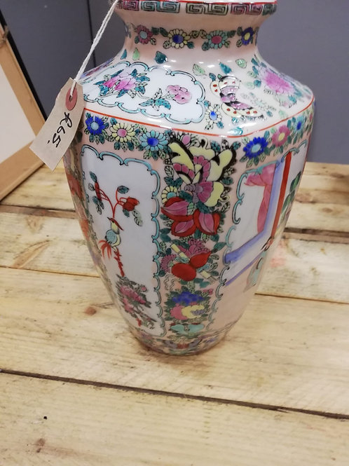 Large oriental vase with stamp