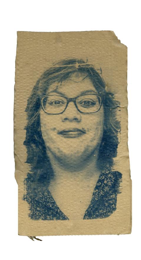 Cardboard Portrait of Nikki