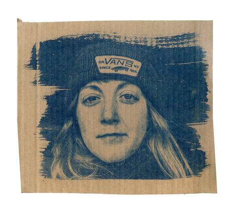 Cardboard Portrait of Dom