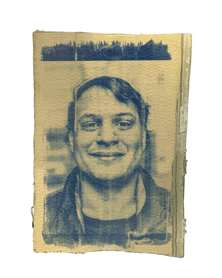 Cardboard Portrait of Rico