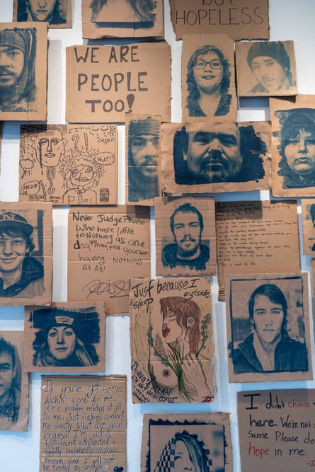 Closeup of Your Side of the Story Exhibition at SPAO. School of the Photographic Arts of Ottawa