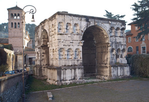 The Arch of Giano at the Forum Boarium is in fact the Honorary Arch of Constantine