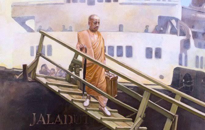Insipirational story of prabhupad's life threatening travel for 35 days with 2 heart attacks.