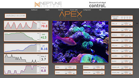Apex controller screen with analytics